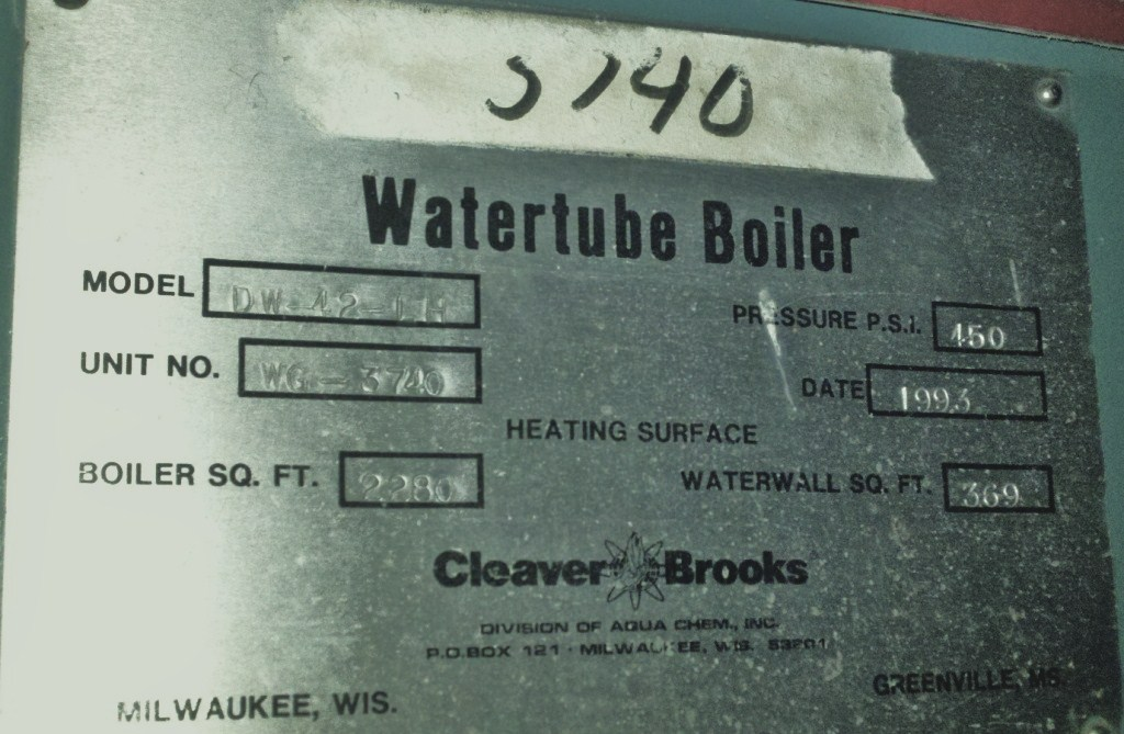Package Boiler For Sale 27 000 Lbs An Hour 450 Psi